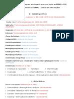 Ficha de solicitação para abertura de processo (FAP)