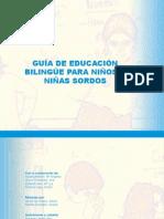 Guia educacion bilingue para niños sordos