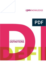 APM Body of Knowledge 5th Edition - Definitions_362