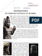 Antiquities At Christie's London On 26 April