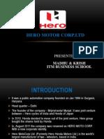 Bse and Sensex on Hero Motors .Ltd