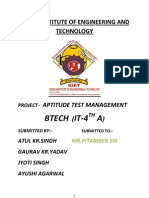 Aptitude Test Mamagement