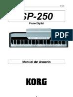 Manual Korg SP-250