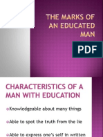 The Marks of an Educated Man