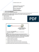 CCNA Discovery 2 Working at a Small to Medium Business or ISP Practice Final