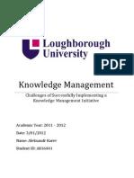 Knowledge Management by Aleksandr Karev