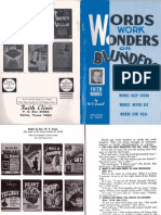 Words Work Wonders or Blunders by W. v. Grant, Sr