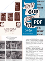 Can God Trust YOU by W. v. Grant, Sr