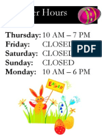 Easter Hours (2012)