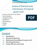 Critical Review of Thermal and Energy Performance of Tropical Green Roofs