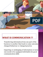 Informal Business Communication