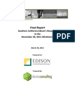 Davies Consulting on Southern California Edison's response to last year's fierce windstorm