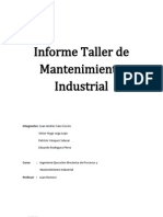 Informe Taller Mantencion Industrial