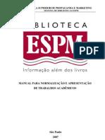 Manual para Normalização  e Apresentação de Trabalhos Academicos