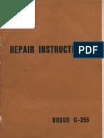 Ursus C-355 Service Manual English
