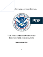 Homeland Security Report on Secure Communities