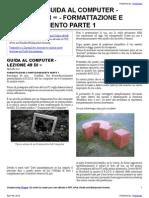 Guida al Computer - Lezione 49 - Formattazione e Partizionamento Parte 1