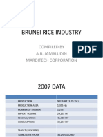 Brunei Rice Industry