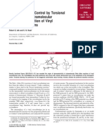 Stereoselectivity Control by Torsional Steering in an Intramolecular Diels-Alder Reaction