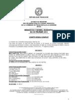 Compte-rendu de la séance du 2012-02-09