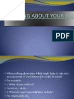 Talking About Your Job