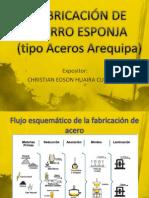 FABRICACIÓN DE HIERRO ESPONJA