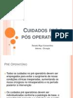 Cuidados pr' e p¢s operat¢rios - Renata Rigo