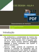 Princípios de Design – Aula 4 - Desenvolvimento de Interfaces