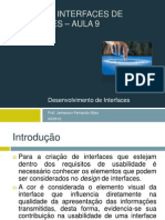 Cores em Interfaces de softwares – Aula 9 - Desenvolvimento de Interfaces