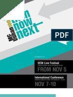 Then Now Next Conferene and Festival Program Nov4