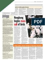 TheSun 2008-12-11 Page08 Hong Kong Begins Mass Cull of Birds