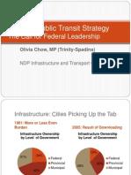 Olivia Chow Presentation National Transit Strategy 2012-02-28
