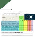 Rubrica de Evaluación correspondiente a la semana del 16 al 20 de abril del 2012