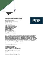 100GHz Dual Channel OADM