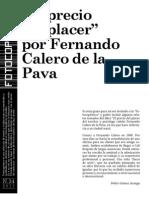 El Precio Del Placer - Fernando Calero de La Pava