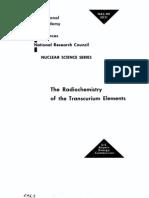 The Radio Chemistry of Trans Curium Elements.us AEC