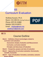 UTM MPF 1483_1 Curriculum Evaluation