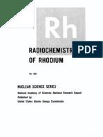 The Radio Chemistry of Rhodium(Rh).US AEC