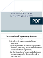 International Money Market Instruments