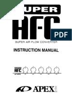 Apexi Installtion Instruction Manual: S-AFC 2 / SUPER AIR
