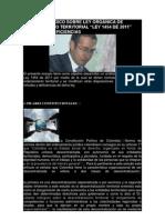 ANÁLISIS JURÍDICO SOBRE LEY ORGÁNICA DE ORDENAMIENTO TERRITORIAL