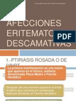 AFECCIONES ERITEMATO - DESCAMATIVAS