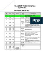 Academic Calender 2011