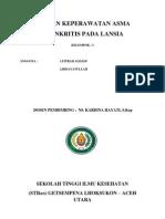 Asuhan Keperawatan Asma Bronkrtis Pada Lansia