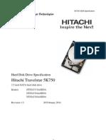 HDD Hitachi HTS547564A9E384