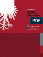 McGraw University Online Brochure