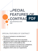 Special Features of Contract