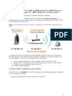 TL-WA501G and TL-WA901N Settings for 2Wire Modem Router