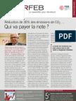 Réduction de 30% des émissions de CO2… Qui va payer la note ?, Infor FEB 12, 5 avril 2012