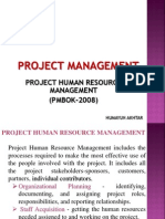 Pmbok - Project Human Resouce Management